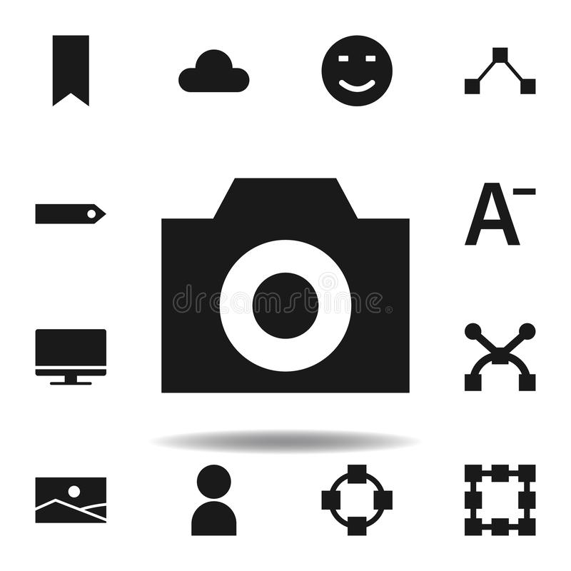 User website camera icon. set of web illustration icons. signs, symbols can be used for web, logo, mobile app, UI, UX. On white background royalty free illustration
