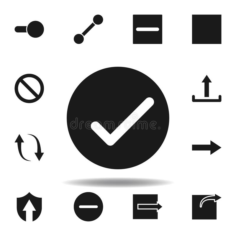 User website check icon. set of web illustration icons. signs, symbols can be used for web, logo, mobile app, UI, UX. On white background vector illustration