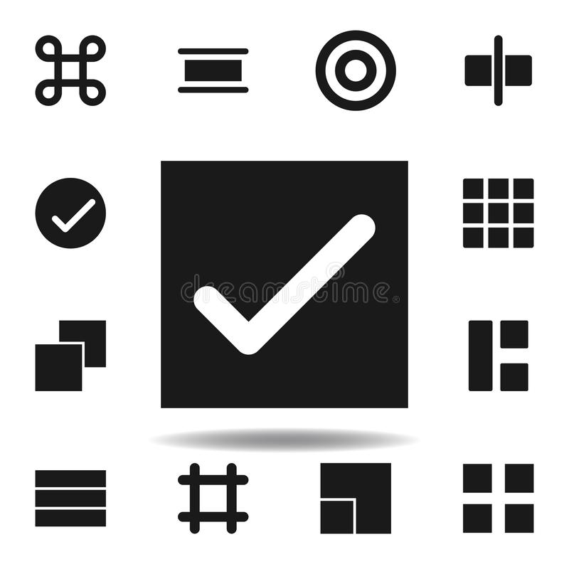 User website check icon. set of web illustration icons. signs, symbols can be used for web, logo, mobile app, UI, UX. On white background royalty free illustration