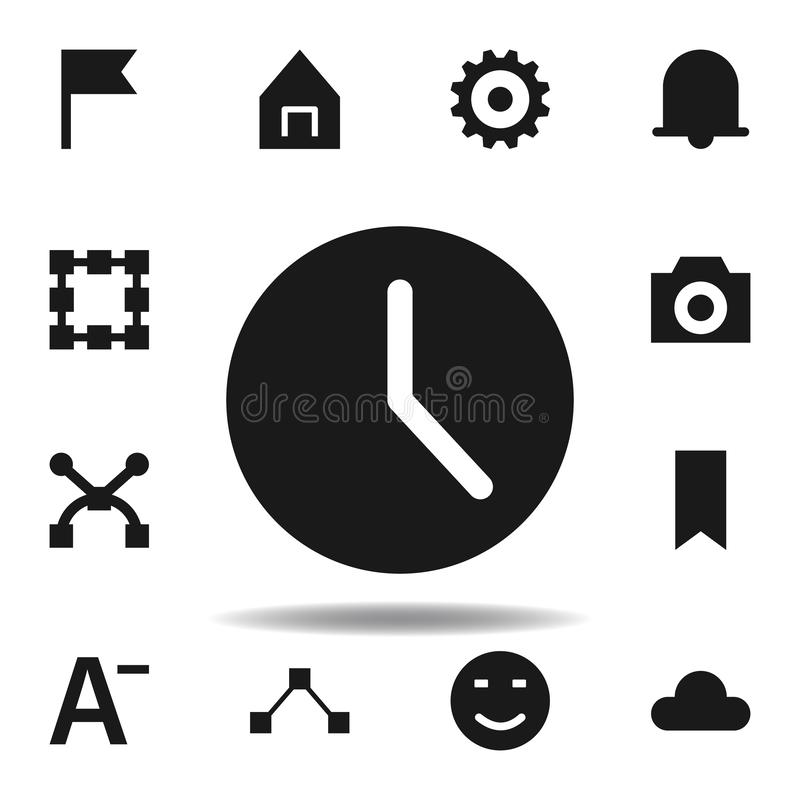 User website clock icon. set of web illustration icons. signs, symbols can be used for web, logo, mobile app, UI, UX. On white background vector illustration