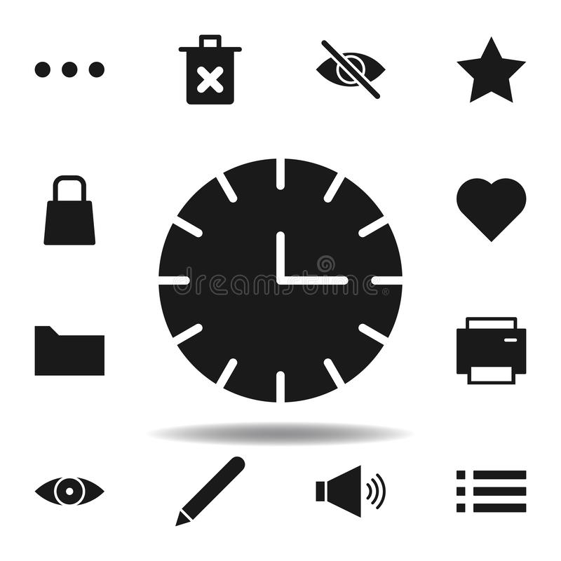 User website clock icon. set of web illustration icons. signs, symbols can be used for web, logo, mobile app, UI, UX. On white background stock illustration