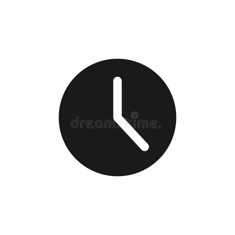 User website clock icon. Signs and symbols can be used for web, logo, mobile app, UI, UX. On white background vector illustration
