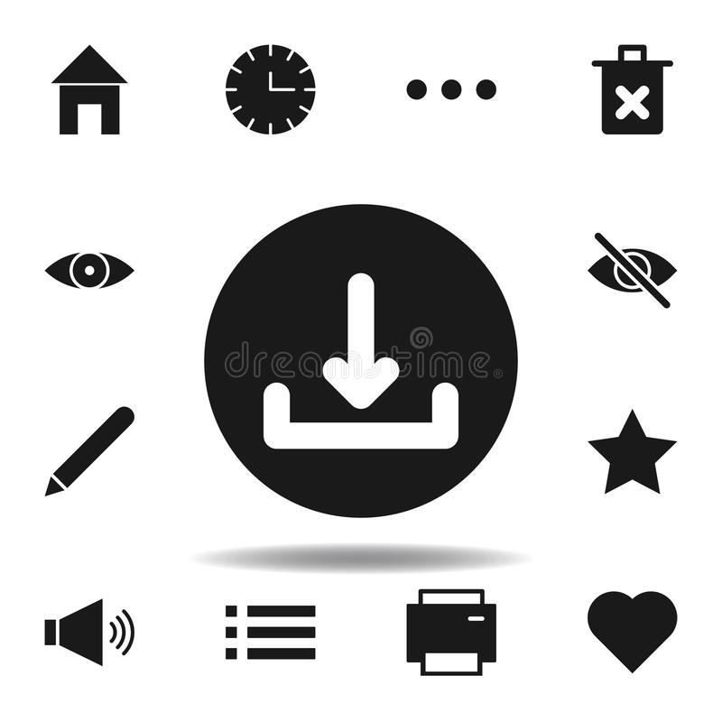 User website download icon. set of web illustration icons. signs, symbols can be used for web, logo, mobile app, UI, UX. On white background royalty free illustration