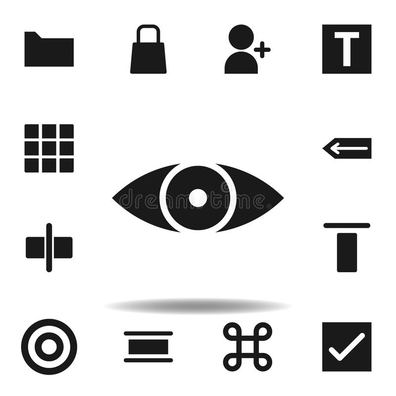 User website eye icon. set of web illustration icons. signs, symbols can be used for web, logo, mobile app, UI, UX. On white background vector illustration