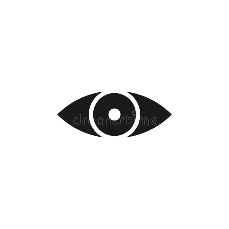 User website eye icon. Signs and symbols can be used for web, logo, mobile app, UI, UX. On white background royalty free illustration