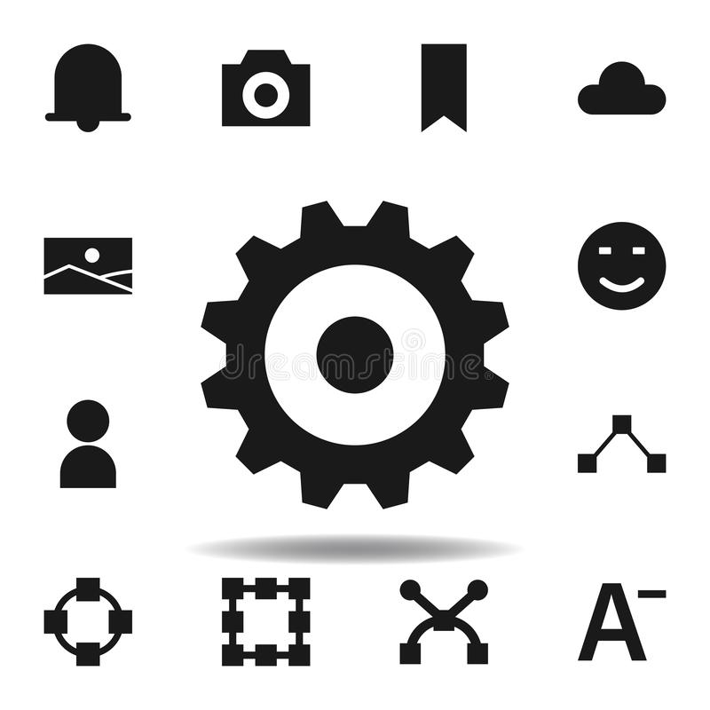 User website gear icon. set of web illustration icons. signs, symbols can be used for web, logo, mobile app, UI, UX. On white background royalty free illustration