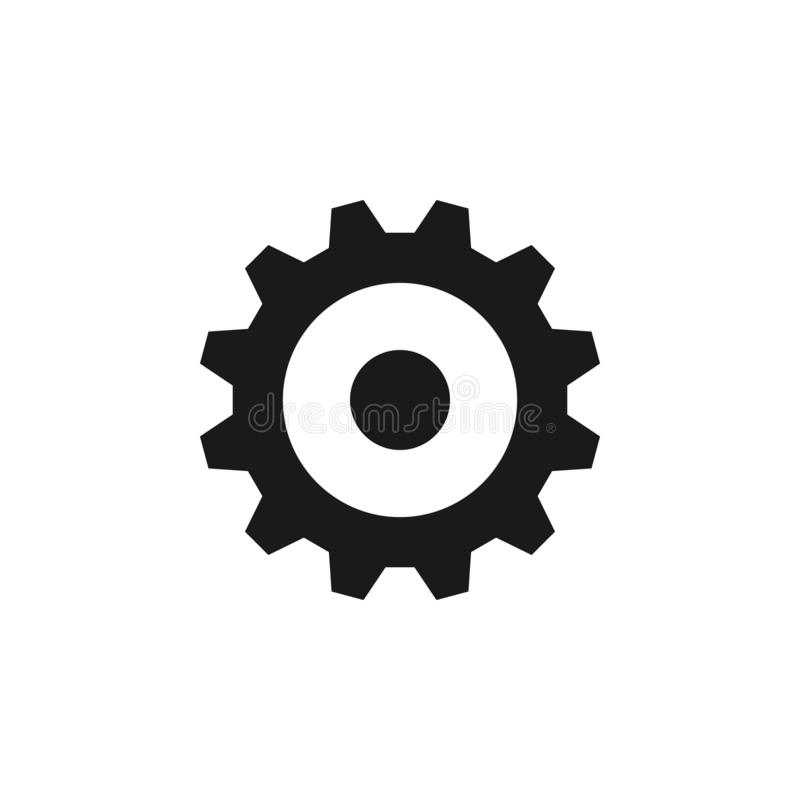 User website gear icon. Signs and symbols can be used for web, logo, mobile app, UI, UX. On white background vector illustration