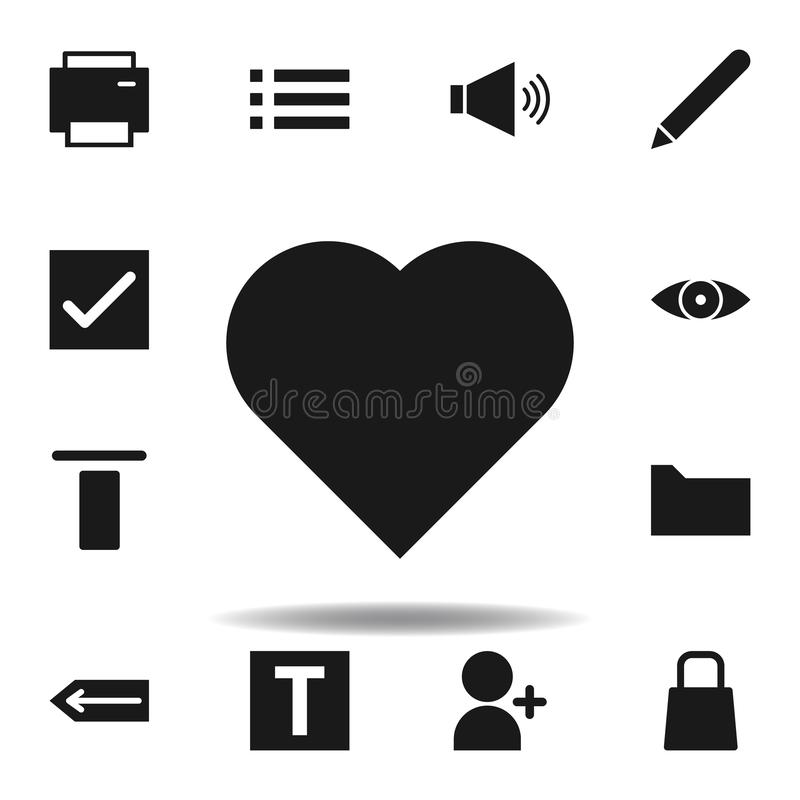 User website heart icon. set of web illustration icons. signs, symbols can be used for web, logo, mobile app, UI, UX. On white background stock illustration