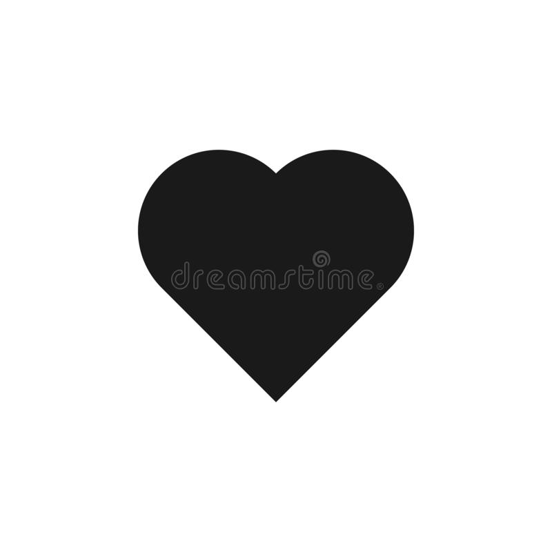 User website heart icon. Signs and symbols can be used for web, logo, mobile app, UI, UX. On white background vector illustration