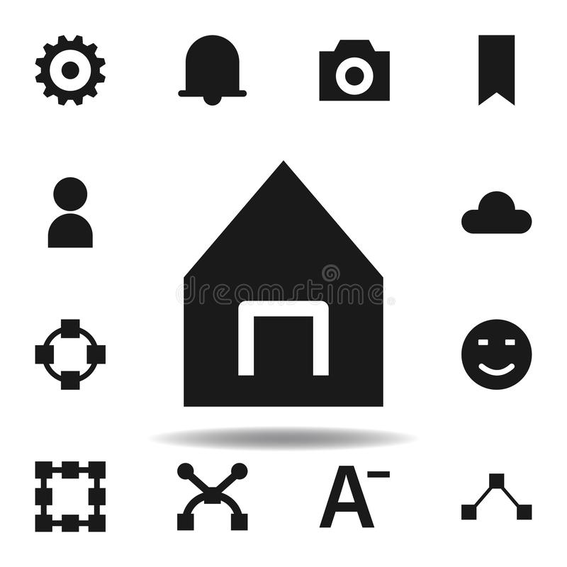 User website house icon. set of web illustration icons. signs, symbols can be used for web, logo, mobile app, UI, UX. On white background royalty free illustration