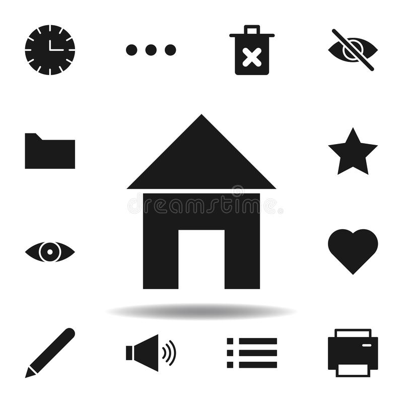 User website house icon. set of web illustration icons. signs, symbols can be used for web, logo, mobile app, UI, UX. On white background stock illustration