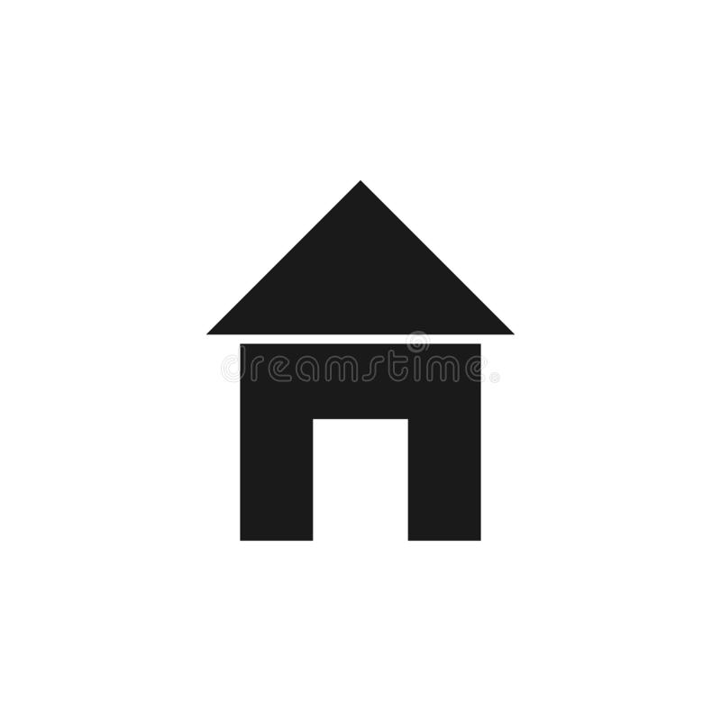User website house icon. Signs and symbols can be used for web, logo, mobile app, UI, UX. On white background stock illustration