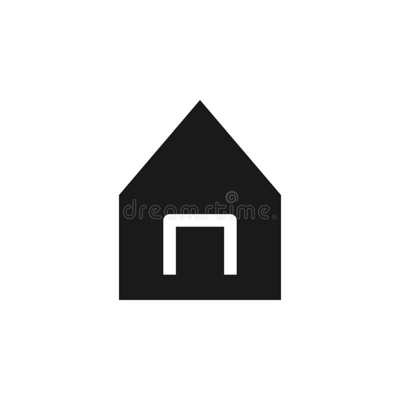 User website house icon. Signs and symbols can be used for web, logo, mobile app, UI, UX. On white background royalty free illustration