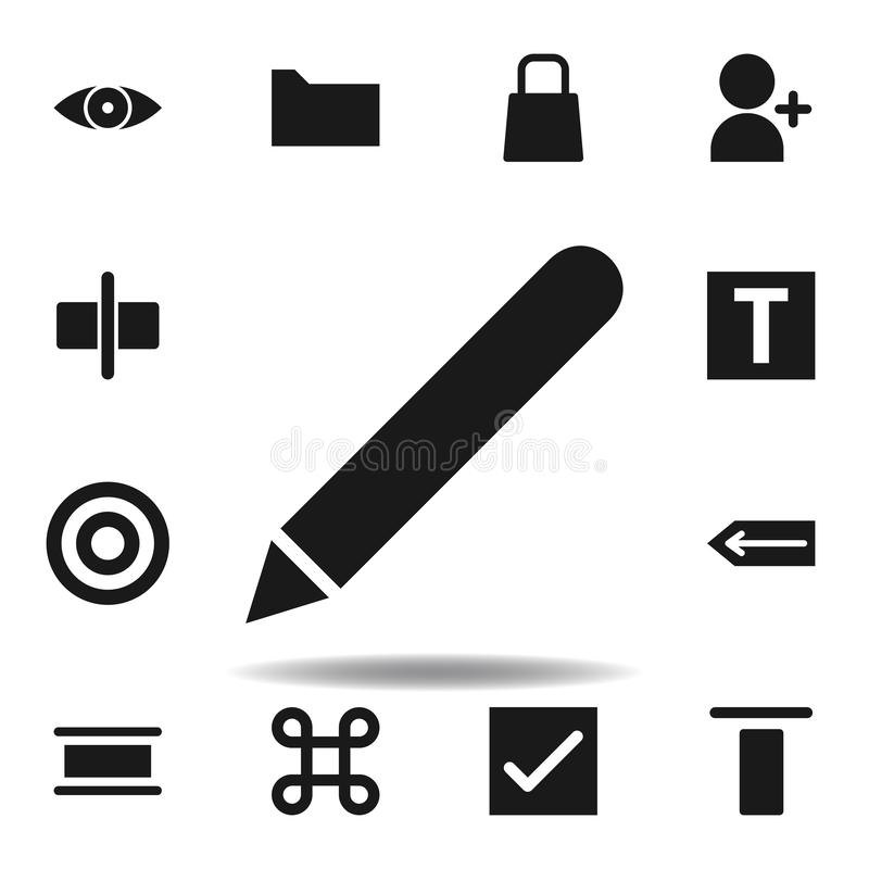 User website pen icon. set of web illustration icons. signs, symbols can be used for web, logo, mobile app, UI, UX. On white background vector illustration