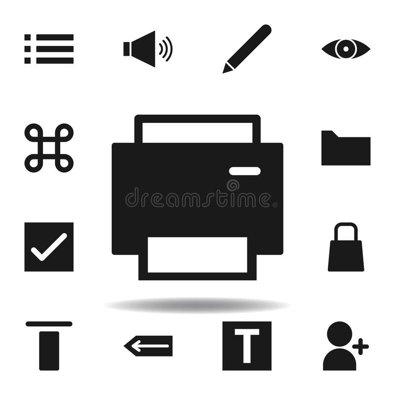 User website printer icon. set of web illustration icons. signs, symbols can be used for web, logo, mobile app, UI, UX. On white background vector illustration