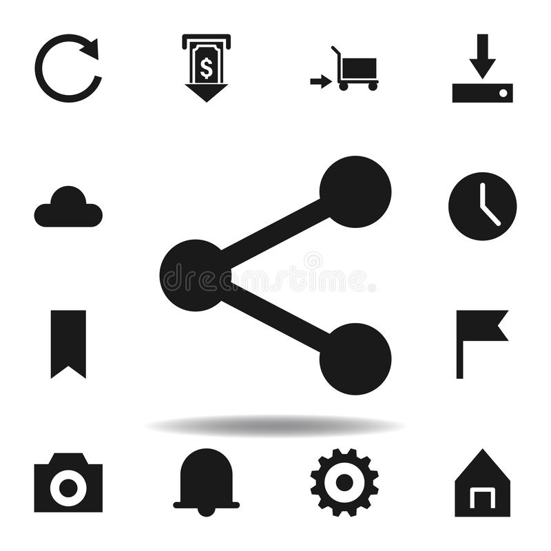 User website share icon. set of web illustration icons. signs, symbols can be used for web, logo, mobile app, UI, UX. On white background stock illustration