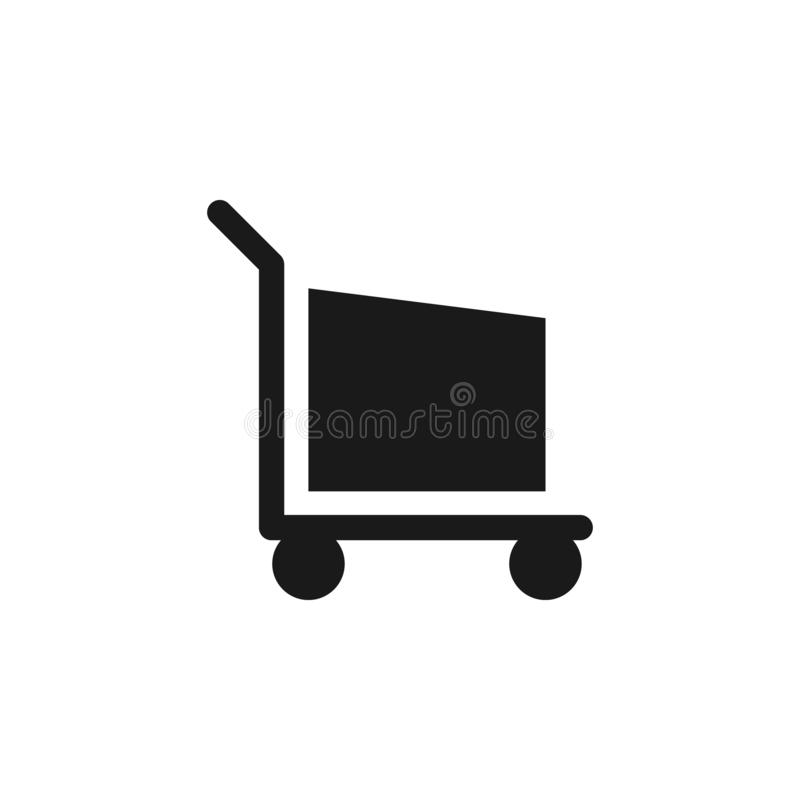 User website shopping icon. Signs and symbols can be used for web, logo, mobile app, UI, UX. On white background royalty free illustration