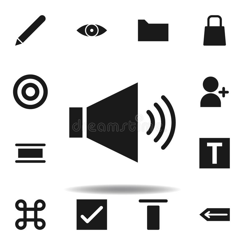User website speaker icon. set of web illustration icons. signs, symbols can be used for web, logo, mobile app, UI, UX. On white background royalty free illustration