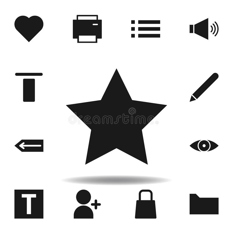 User website star icon. set of web illustration icons. signs, symbols can be used for web, logo, mobile app, UI, UX. On white background vector illustration