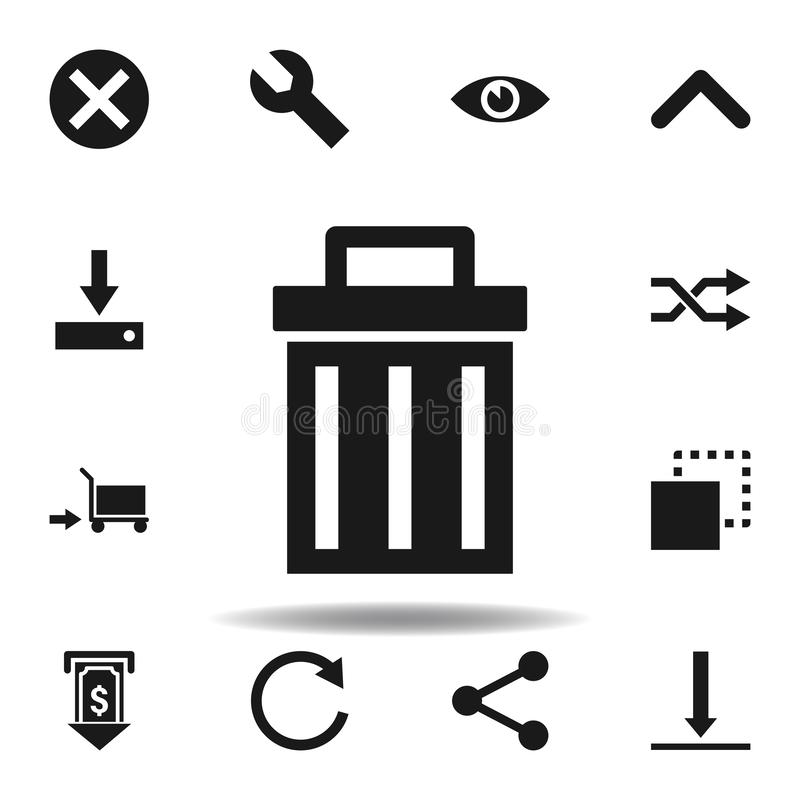 User website trash icon. set of web illustration icons. signs, symbols can be used for web, logo, mobile app, UI, UX. On white background stock illustration