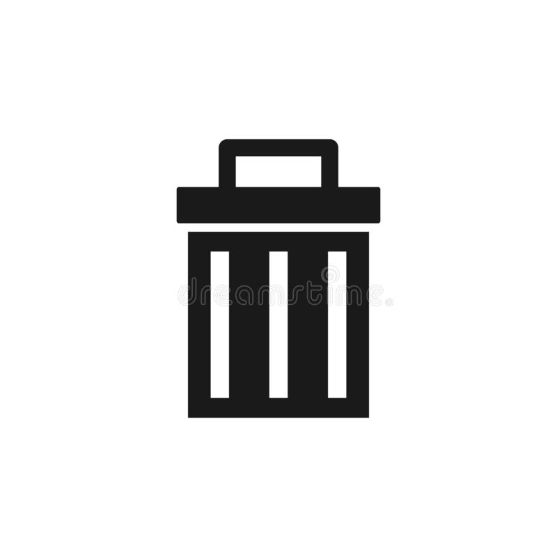 User website trash icon. Signs and symbols can be used for web, logo, mobile app, UI, UX. On white background stock illustration