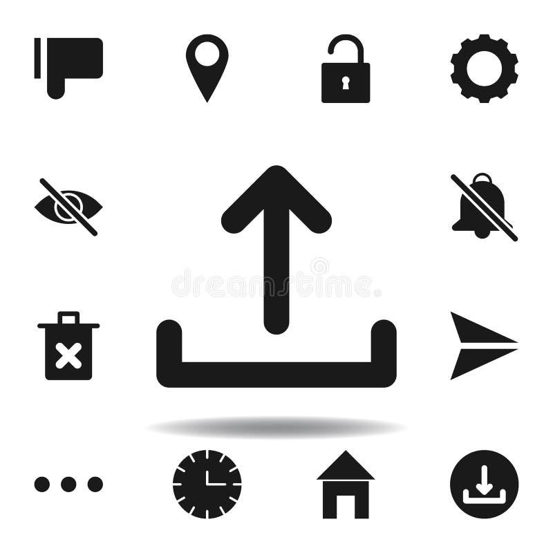 User website upload icon. set of web illustration icons. signs, symbols can be used for web, logo, mobile app, UI, UX. On white background royalty free illustration