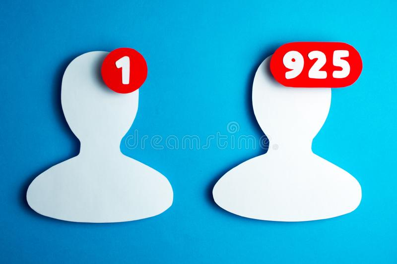Users of social networks stock photography