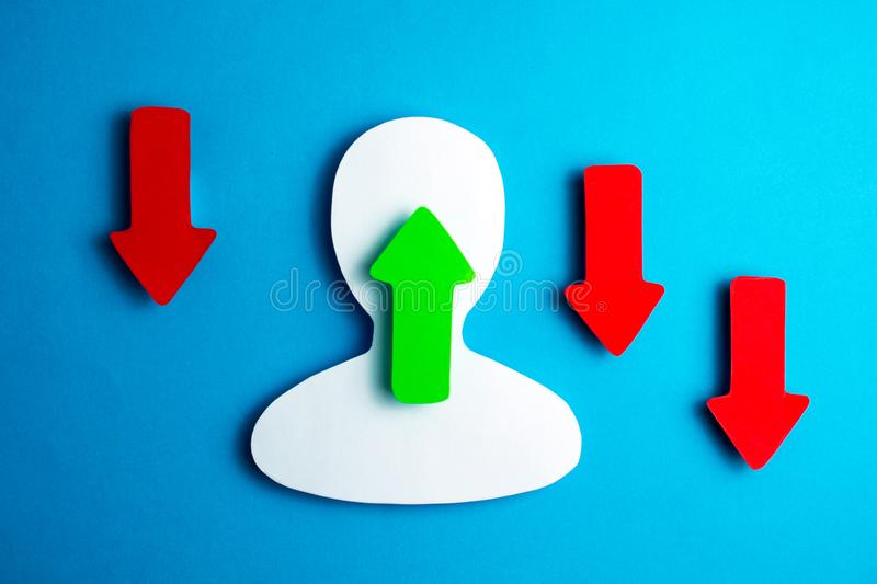 Users of social networks stock image
