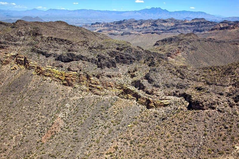 Usery Mountain Aerial View stock photos