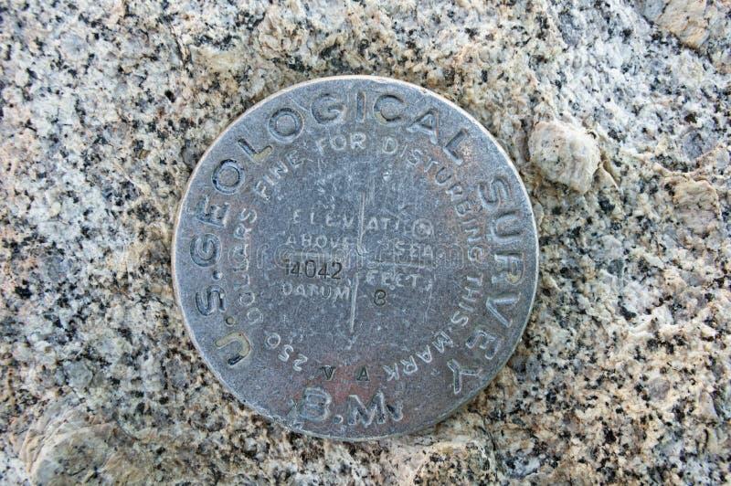 USGS基准点 免版税库存图片