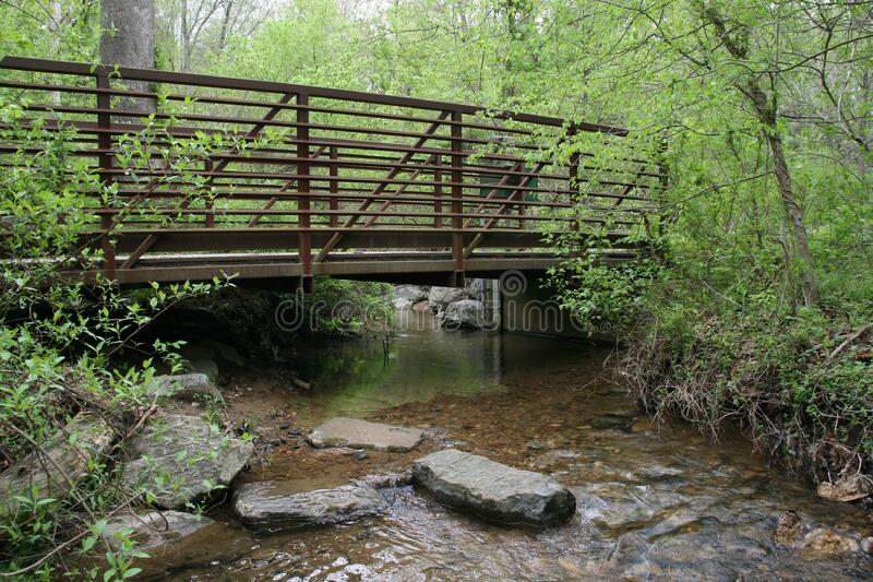 USGS Streamgage at Soper Branch Creek royalty free stock image
