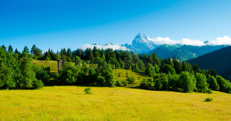 Download Ushba Mountain Royalty Free Stock Photography - Image: 35001397