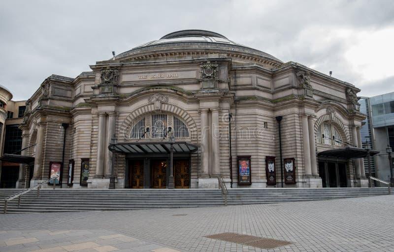Usher Hall building in Edinburgh city centre, Scotland stock image