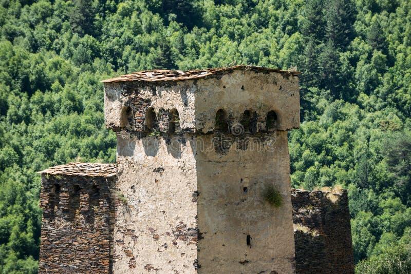 Ushguli em Geórgia fotografia de stock royalty free