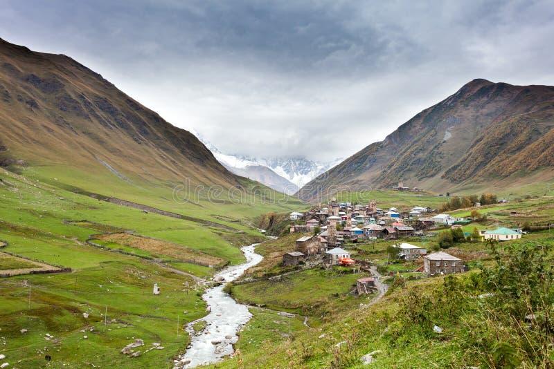 Ushguli Village In Swanetia. Georgia Stock Photo