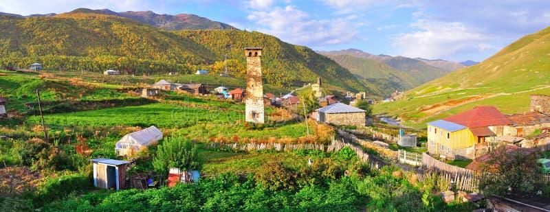 Ushguli Wioska, Svaneti Gruzja obrazy royalty free