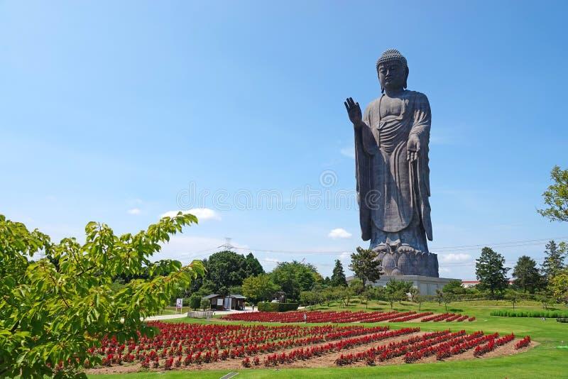 Ushiku Daibutsu, het Standbeeld van Boedha in Japan royalty-vrije stock afbeeldingen
