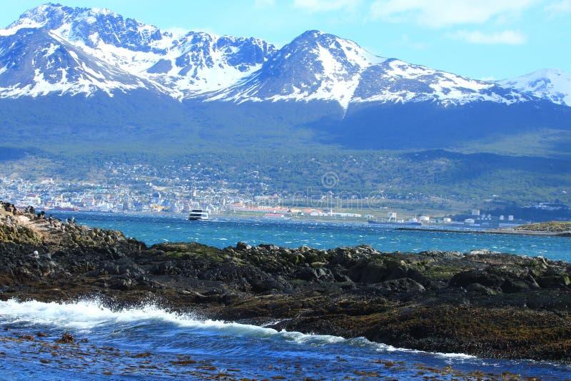 Ushuaia - κανάλι λαγωνικών στοκ φωτογραφία με δικαίωμα ελεύθερης χρήσης