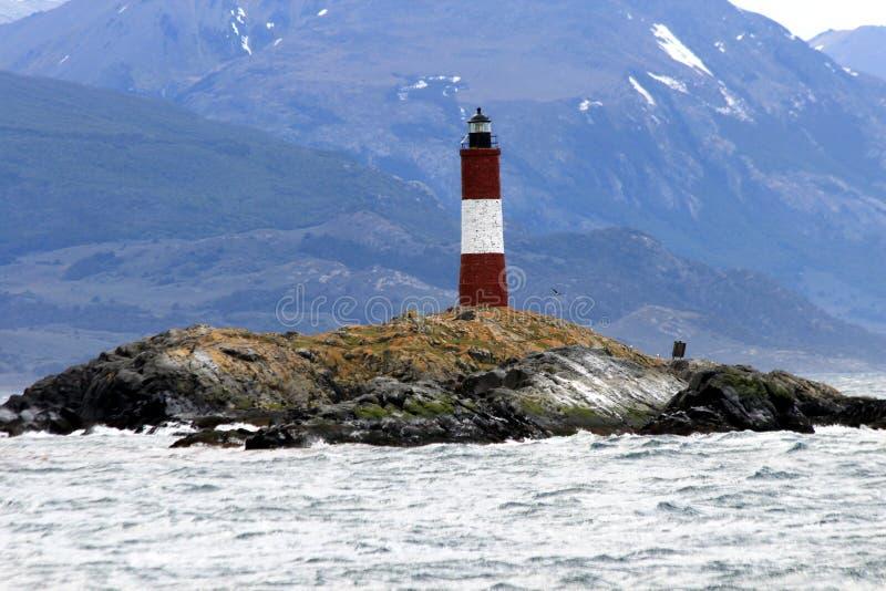 Ushuaia - φάρος Les Eclaireurs στοκ εικόνα με δικαίωμα ελεύθερης χρήσης