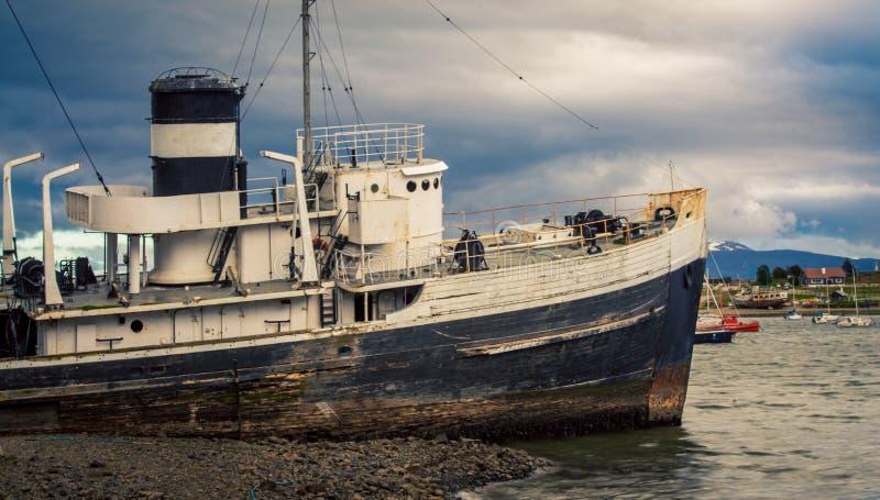 Ushuaia argentina del naufragio immagini stock libere da diritti