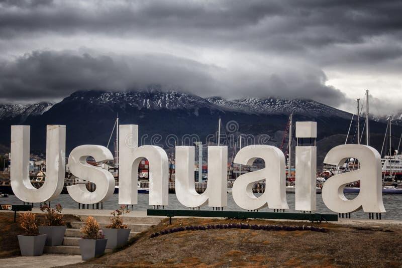 Ushuaia, Argentyna południowy miasto w świacie fotografia royalty free