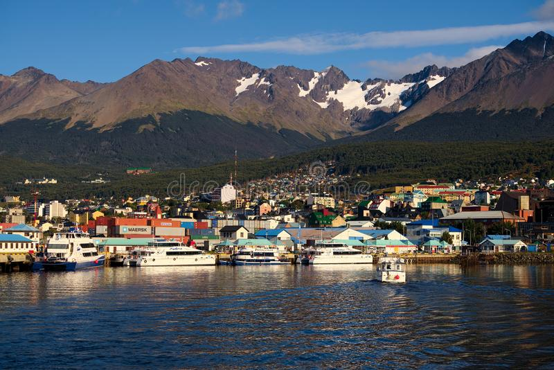 Ushuaia and the Beagle Channel, Tierra del Fuego, Argentina royalty free stock image
