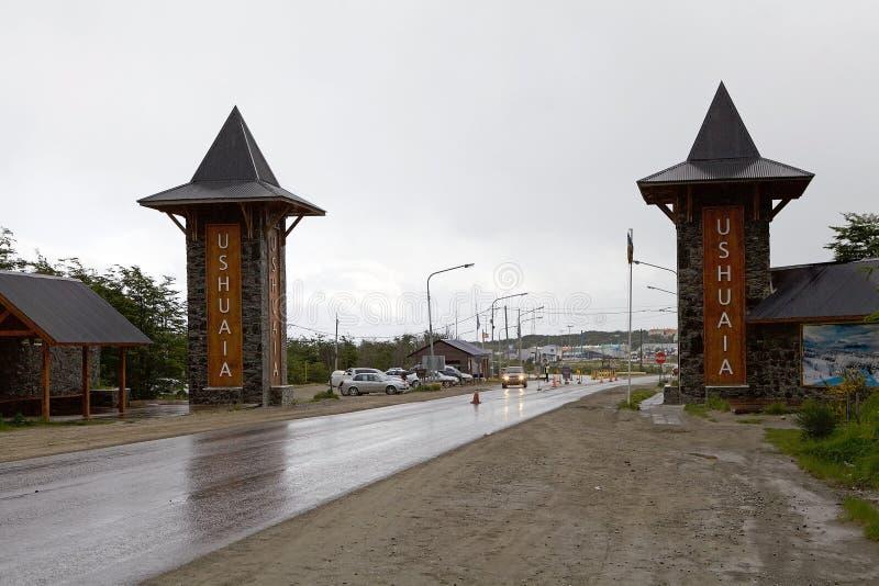 Ushuaia, a capital de Tierra del Fuego, Argentina imagens de stock royalty free