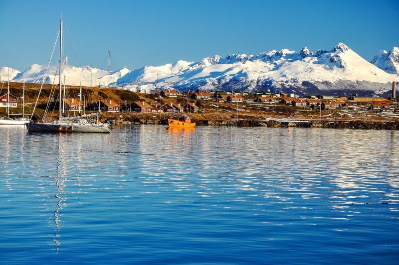Ushuaia da canaleta do lebreiro fotos de stock royalty free