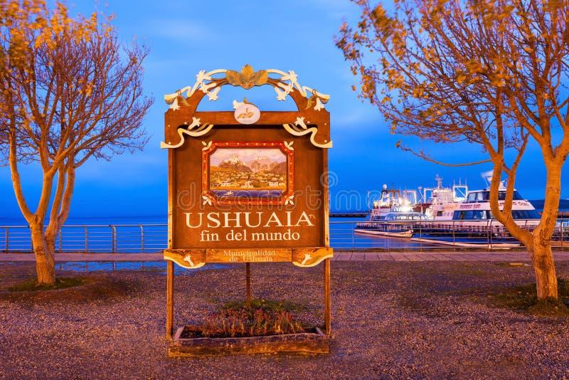 Ushuaia Żebro Del Mundo zdjęcie stock