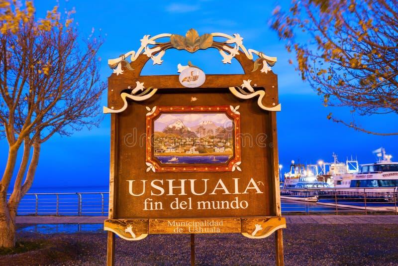 Ushuaia Żebro Del Mundo fotografia stock