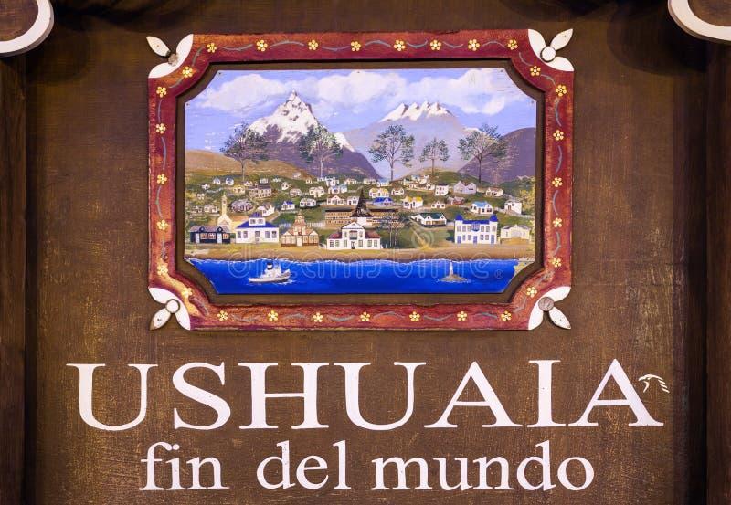 Ushuaia Żebro Del Mundo fotografia royalty free