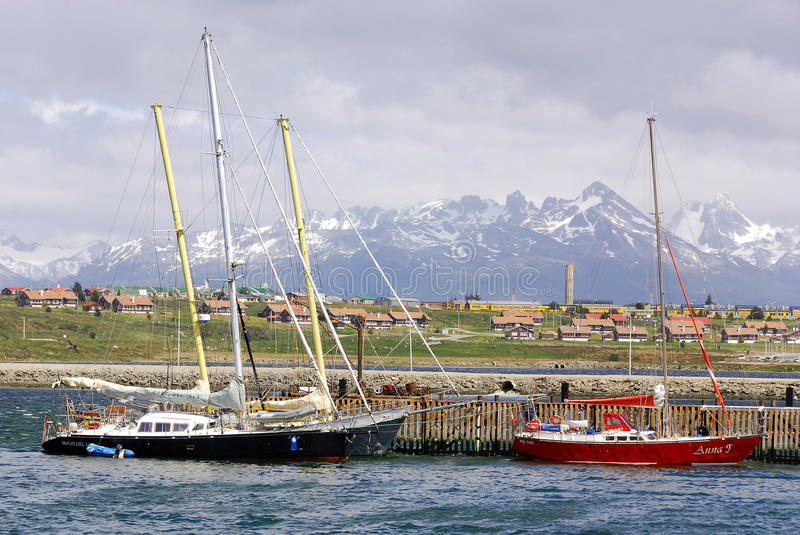 Download Ushuaia harbor editorial photography. Image of ocean - 26911922