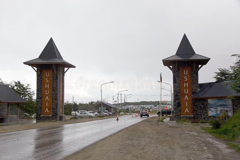 Ushuaia kapitał Tierra Del Fuego, Argentyna obraz royalty free