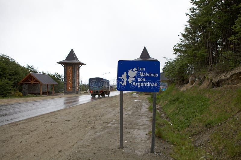 Ushuaia kapitał Tierra Del Fuego, Argentyna zdjęcia royalty free